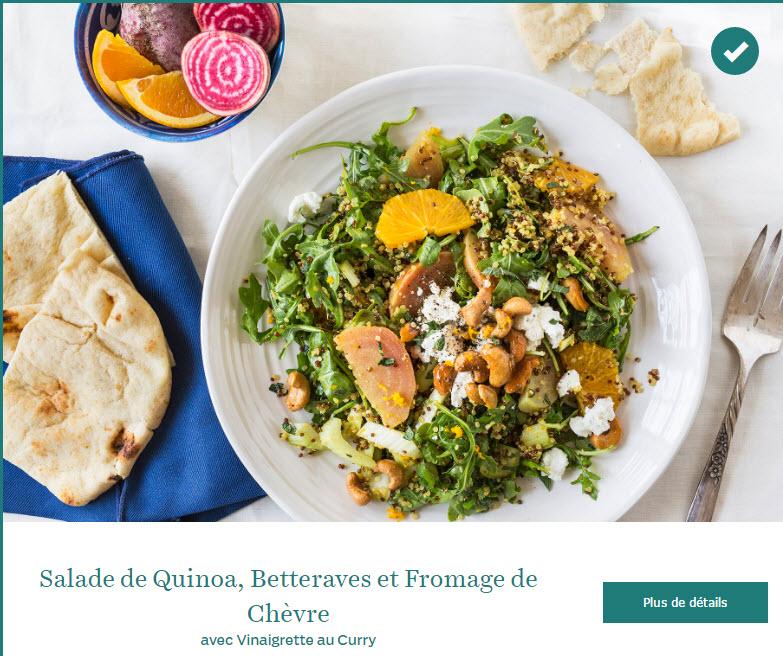 Salade de Quinoa, Betteraves et Fromage de Chèvre avec Vinaigrette au Curry